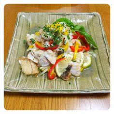 白身魚のマリネ N703さんのレシピより、まろやかマリネで完食でした。naoさんありがとうございました♡