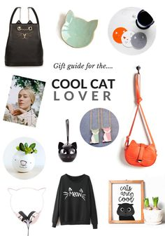 2016 GIFT GUIDE: Covetable Gifts for Cool Cat Lovers Are you are looking for the purr-fect gift for the friend who is wild for felines? Forget crazy cat ladies, these covetable gift ideas are reserved for the coolest cat lovers. Cat Lover Gifts, Cat Gifts, Lovers Gift, Pet Lovers, Crazy Cat Lady, Crazy Cats, Cut Cat, Cat Coasters, Animal Pillows
