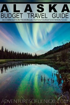 Travel Alaska On A Budget - Travel Alaska On A Budget When to go, what to do, where to sleep and more! Learn how to budget travel in Alaska! Pictured: Aurora dancing over Eagle River, AK Travel Alaska, Travel Usa, Alaska Trip, Places To Travel, Travel Destinations, Visit Alaska, Anchorage Alaska, Camping, Northern Lights