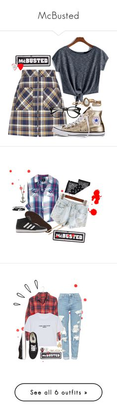 """""""McBusted"""" by maro-sousa ❤ liked on Polyvore featuring Miu Miu, Converse, McBusted, adidas, Zara Taylor, McQ by Alexander McQueen, Urban Outfitters, Madewell, Topshop and WithChic"""