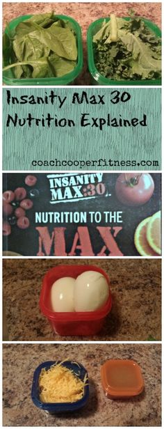 How I use the Insanity Max 30 Nutrition Plan.  It's simpler than you think!