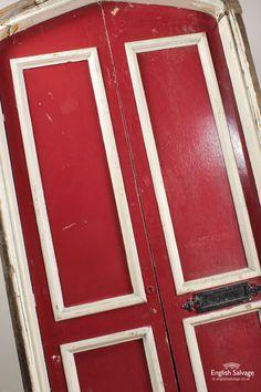 Arch Top Double Doors in Frame (Ex Chapel)