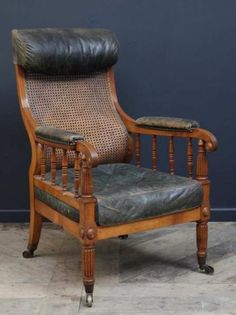 A Regency Gillows Library Bergere, Antique Chairs & Armchairs, Drew Pritchard