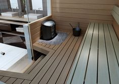 Sauna Design, Finnish Sauna, Spa Rooms, Sauna Room, Plunge Pool, Construction, Garden Furniture, Saunas, Backyard