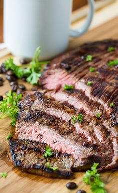 Coffee and Soy Marinated Flank Steak. Who would have thought coffee would make such a great marinade addition?