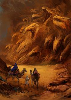Fantasy Art Landscapes, Fantasy Paintings, Fantasy Landscape, Fantasy Artwork, Fantasy Races, Fantasy Rpg, Medieval Fantasy, Fantasy World, Fantasy Monster