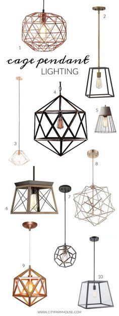 Cage Pendant Lighting-My Favorites