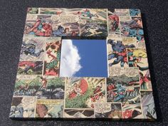 DIY a mirror or frame with marvel comics