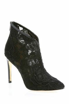 black lace stiletto