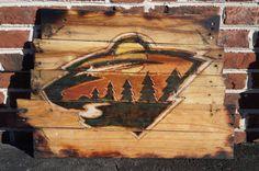Minnesota Wild Pallet Sign by MallettsPalletts on Etsy