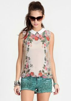 Floral Rhapsody Collared Blouse 32.00 at a href=http://www.threadsence.com/floral-rhapsody-collared-blouse-p-7315.html target=_blankthreadsence.com/a