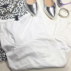 White Pleated Hem Tee Details: • Size XL • Short sleeves • Pleated chiffon hem • Last photo shows same style in different color  • NWT   03031606 J. Crew Tops Tees - Short Sleeve