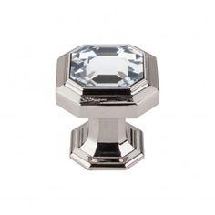 Crystal Emerald Knob 1 1/8 Inch