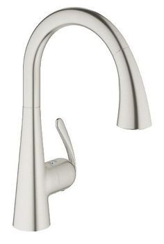 View the Grohe 32 298 1 LadyLux3 Cafe Kitchen Faucet with Pull-Down Spray, Forward Rotating Handle & SilkMove Ceramic Cartridge - Locking Spray Control at FaucetDirect.com.