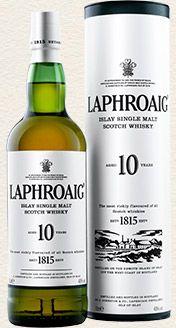 Laphroaig Single Malt Whisky - 10 Year Old single malt available from Whisky Please.