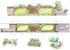 long narrow garden design ideas google search