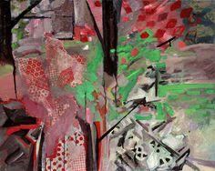 "Saatchi Art Artist Pamela Staker; Painting, ""Study for Figure in Landscape no.1"" #art (JT)"