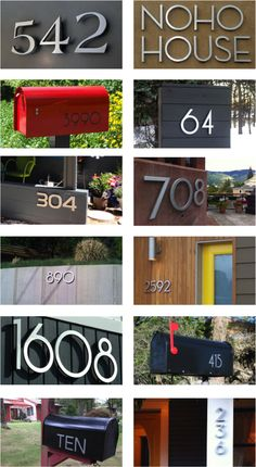 32 - By The Numbers: This year we're focusing on creating a collection of… Mid Century House, Mid Century Style, Mid Century Design, Midcentury House Numbers, Backyard Plan, Latitude Longitude, Geek Decor, Address Numbers, Architects