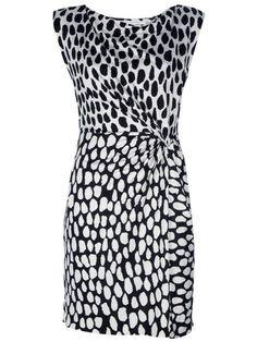 Diane von Fürstenberg printed wrap dress