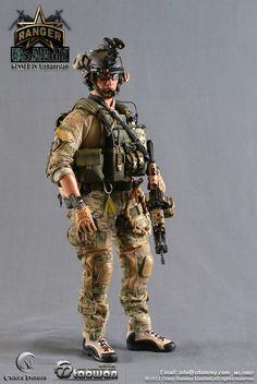 US Army Ranger Gunner In Afghanistan