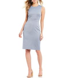 bbdec6aabc4 Antonio Melani Janet Menswear Nailhead Suiting Sleeveless Sheath Dress