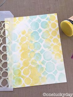 One Lucky Day: Distress Crayons: a subtle approach * mixing a reg size and mini stencil