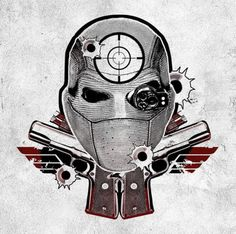Deadshot by Will Smith. #inked #inkedmag #tattoo #deadshot #suicide #squad #art #flash