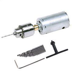 12-36V Mini Handbohrmaschine Bohrmaschine Handbohrer 555 Motor Bohrfutter