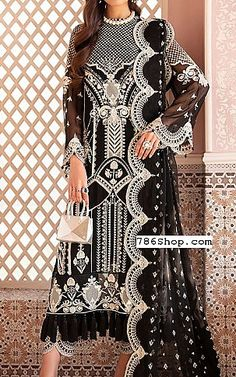 Pakistani Dresses, Designer Dresses, Chiffon, Suit, Clothing, Black, Fashion, Silk Fabric, Outfits