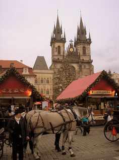 Christmas Market, Old Town Square, Prague.this is how I remember Prague Oh The Places You'll Go, Places To Travel, Places To Visit, Prague Czech Republic, Old Town Square, Eastern Europe, Wonders Of The World, Travel Inspiration, Beautiful Places