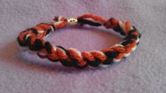 Team Spirit Bracelet in Burnt Orange White and by BriesCreations, $2.99