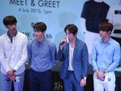 CNBlue   jungshin, jonghyun, yonghwa &  minhyuk   150704   The Class Malaysia Store Opening / Meet & Greet [Press Photos]