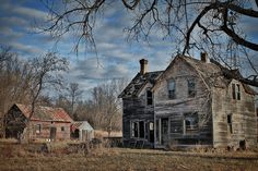 a wonderful image of an abandoned homestead - one of 8 picks for this week's Friday Favorites