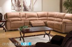 Cindy Crawford furniture sectional sofa smallhomelover.com