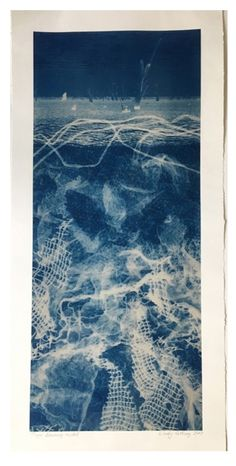 Gorgeous cyanotype by Wendy Catling Sun Prints, Alternative Photography, Collage Art Mixed Media, Painting Collage, Cyanotype, Modern Artists, Photo Projects, Linocut Prints, Aesthetic Wallpapers