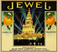 Anaheim Jewel Orange Citrus Crate Label Art Print