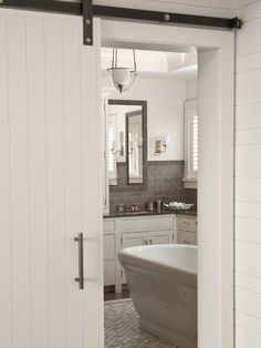 Barn Doors in basement on bathroom would save some space (if could find hardware/lock.