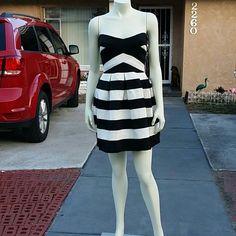 Nwot Amazing Black & White Dress