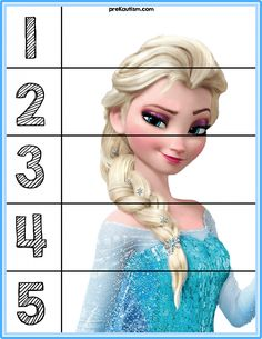Frozen Puzzles - Autism & Education Puzzles for basic number sense. Infant Activities, Educational Activities, Learning Activities, Educational Software, Autism Education, Values Education, Education Quotes, Education Logo, Special Education