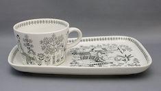 Memories from my childhood :) Raija Uosikkinen's Emilia morning tea set by Arabia