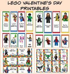 FREE Printable LEGO Valentine's Day Cards & Bookmarks #freeprintable #freelegovalentinecards #valentinesday #freevalentinecards
