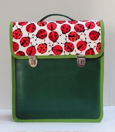 Rucksack mit Marienkäfern // backpack with ladybird print by Meisen auf Reisen via DaWanda.com