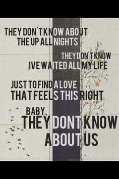 the life of a directioner .... they= the boys us= directioners.. think about it ... they dont know about the up all nights.. Ha!