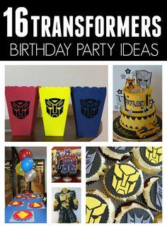 16 fantastic Transformers Birthday Party Ideas - Pretty My Party - Party Ideas, Birthday Goals, 5th Birthday Party Ideas, Birthday Party Centerpieces, Birthday Favors, Birthday Decorations, Boy Birthday, I Party, Candy Centerpieces, Quince Decorations
