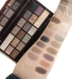 Makeup Revolution Death by Chocolate Palette swatches