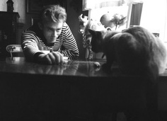 James Dean and his kitty