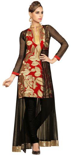 Readymade Georgette Embroidered Salwar Kameez/Anarkali Suit M342-1004 At Aimdeals.com