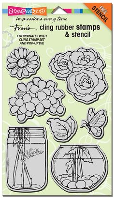 Stampendous Cling Build a Bouquet Stamp Set