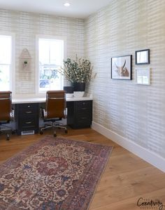 Modern farmhouse office. Millhaven Homes