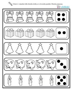Christmas Worksheets, Christmas Activities For Kids, Noel Christmas, Christmas Themes, Special Needs Students, Math Numbers, Kindergarten Worksheets, Diy And Crafts, Preschool